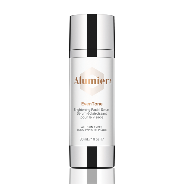 white 30 milliliter bottle of AlumierMD EvenTone