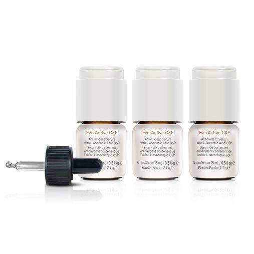 three bottles of AlumierMD everactive C&E