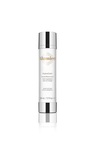 white 50 milliliter bottle of AlumierMD HydraCalm