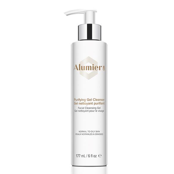 white 177 milliliter bottle of AlumierMD Purifying Gel medium