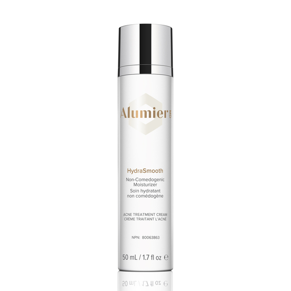 white 50 milliliter bottle of AlumierMD HydraSmooth