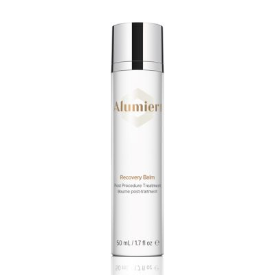 white 50 milliliter bottle of AlumierMD Recovery Balm