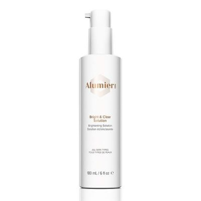 bottle of AlumierMD Bright & Clear Solution 180 mL pump bottle